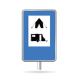 Traffic sign for camping vector