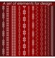 Calligraphic design elements set vector