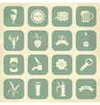 Retro beer icons set vector