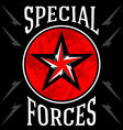 Special forces military emblem vector