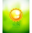 Sun background vector