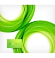 Green bright wave design vector