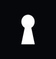 Keyhole with black background vector