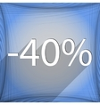 40 percent discount icon symbol flat modern web vector