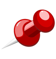Pushpin on a white background vector