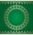 Dark green background with golden ornament vector
