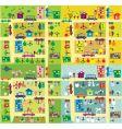 Cartoon city map vector