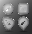 Spade glass buttons vector