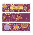 Colorful stars horizontal banners set pattern vector