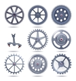 Collection machine gear vector