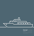 Logo of ship in minimal flat style line vector