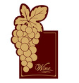 Wine label - gold vine vector