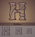 Halloween decorative alphabet - h letter vector
