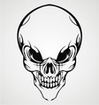 Abstract skull face vector