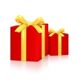 Gift red boxes vector