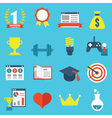 Set of gamification icons for design vector