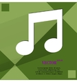 Music note flat modern web design on a flat vector