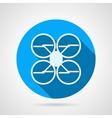 Quadrocopter flat icon vector