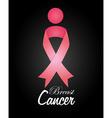 Cancer design over black background vector