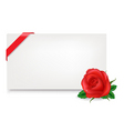 Gift tag with rose vector