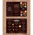 Restaurant menu design pamphlet template vector