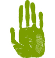 Man right hand print vector