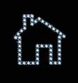 Diamond house icon vector