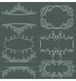 Floral decorative borders ornamental rules divider vector