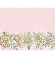 Hand draw flowers on pink background vector