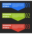Abstract modern infographics options banner vector
