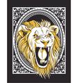 Frame with lion head vintage t-shirt design vector