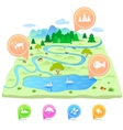 Map nature vector