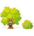 Tree and bush vector