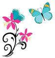 Butterflies and flowers 8 vector