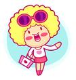 Cartoon shopping girl vector