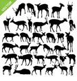 Deer silhouettes vector