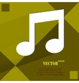 Music note flat modern web design on a flat vector
