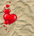 Red hearts with paper vector