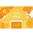 Creative background in orange style vector