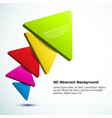Colorful 3d triangle background vector