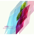Abstract background with colored crystals vector
