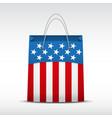 Shopping bag with usa flag vector