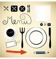 Restaurant menu design elements vector