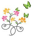 Butterflies and flowers 9 vector