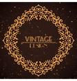 Vintage golden frame on grunge background vector
