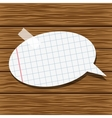 Paper speech bubble and wood background vector