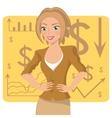 Business woman in ochre suit vector