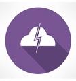 Thundercloud icon vector