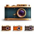 Retro style camera set vector