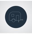 Camping trailer icon caravan vector